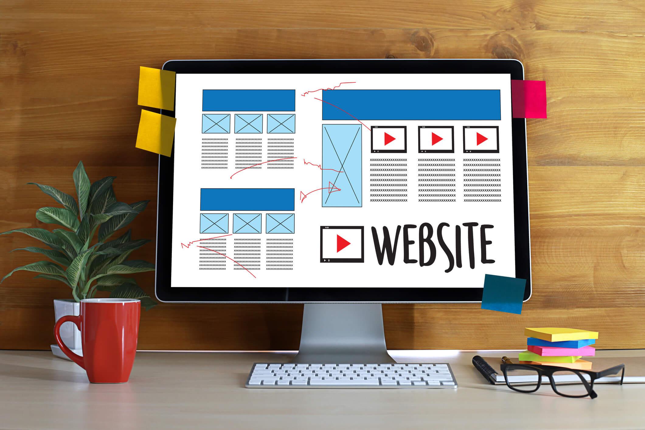 La estética en páginas web.